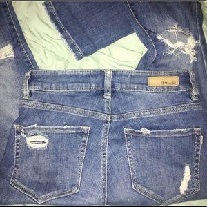 medium wash jeans from garage